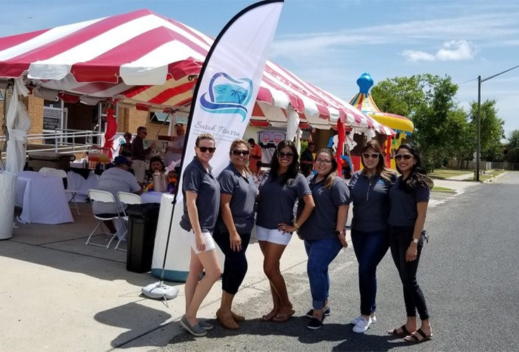 Dental team at outdoor event
