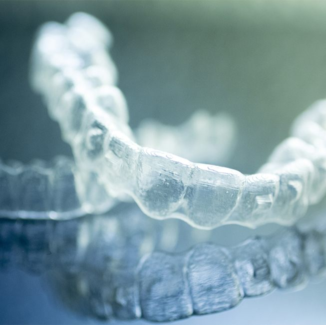 Clear Invisalign trays
